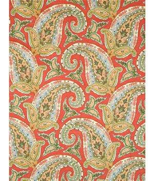 Robert Allen @ Home New Paisley Coral Fabric