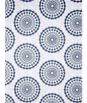 Robert Allen @ Home Circle Crest Indigo Fabric