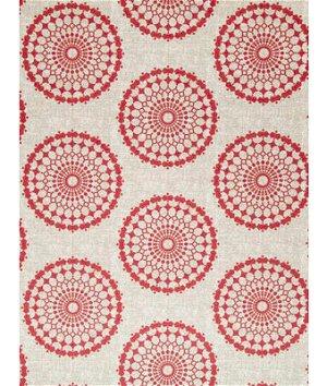 Robert Allen @ Home Circle Crest Pomegranate Fabric
