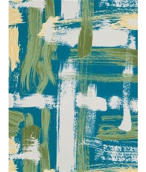 Robert Allen @ Home Sedge Abstract Turquoise Fabric