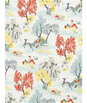 Robert Allen @ Home Modern Toile Persimmon Fabric