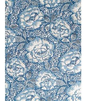 Robert Allen @ Home Peony Bowl Indigo Fabric