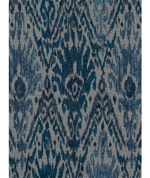 Robert Allen @ Home Jakori Railroaded Backed Indigo Fabric