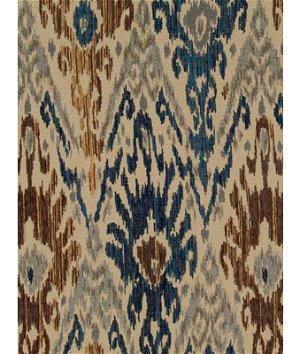 Robert Allen @ Home Jakori Railroaded Backed Cognac Fabric