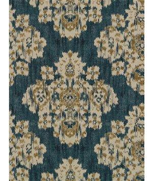 Robert Allen @ Home Oushak Railroaded Backed Aegean Fabric