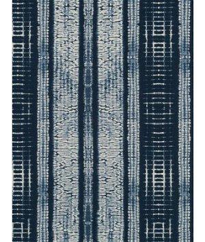 Robert Allen @ Home Kokorda Railroaded Backed Indigo Fabric