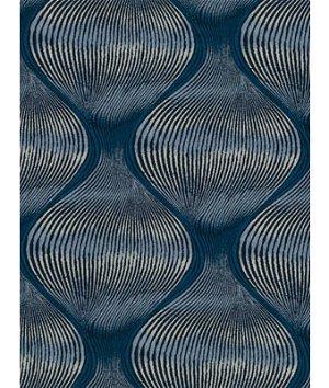 Robert Allen @ Home Kutev Railroaded Backed Indigo Fabric