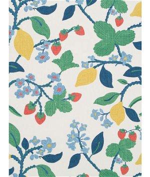 Robert Allen @ Home Crewel Summer Cherry Fabric