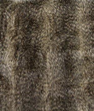 Brown Raccoon Faux Fur Fabric