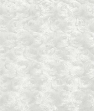 Ivory Minky Rose Swirl Fabric
