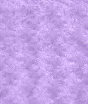 Lilac Minky Rose Swirl Fabric