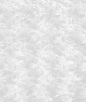 White Minky Rose Swirl Fabric