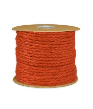 3.5mm Orange Jute Twine - 25 Yards