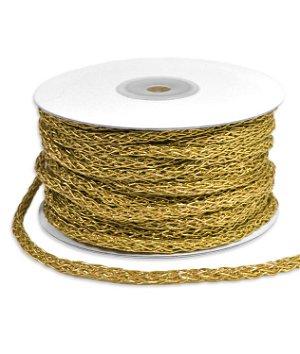 5mm Gold Braided Cord Trim - 25 Yards