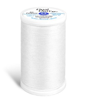 Coats & Clark Dual Duty XP Thread - White, 500 Yards