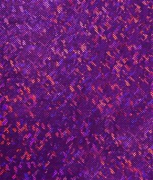 Shattered Glass Hologram Spandex Purple Fabric