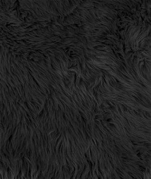 Black Shag Fur Fabric