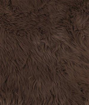 Brown Shag Fur Fabric