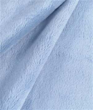 Light Blue Minky Fabric