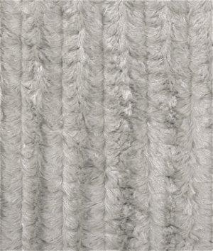 Silver Minky Stripe Fabric