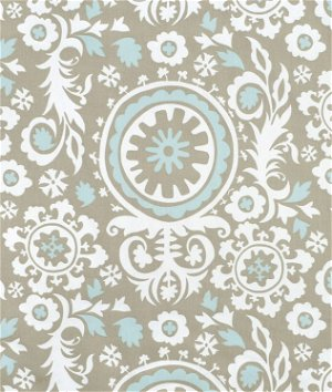Premier Prints Suzani Powder Blue Twill Fabric
