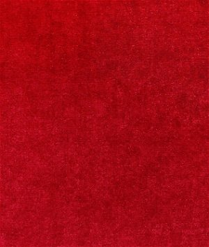 Red Stretch Velvet Fabric