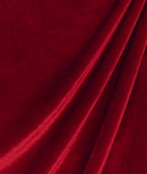 Wine Stretch Velvet Fabric