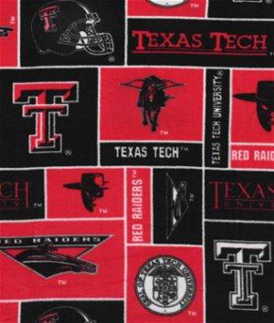 Texas Tech Red Raiders Allover NCAA Fleece Fabric