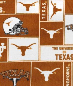 Texas Longhorns Allover NCAA Fleece Fabric