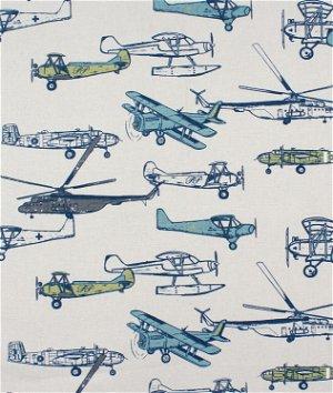 Premier Prints Vintage Air Felix Natural Fabric
