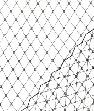 Black Russian Netting Fabric