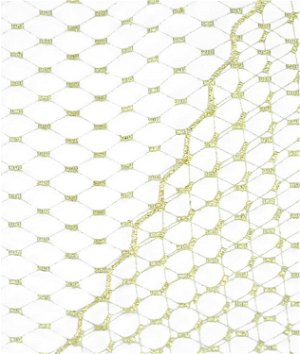 Metallic Gold Russian Netting Fabric