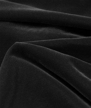Fairvel Black Micro Velvet Fabric
