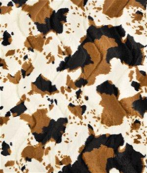 Tan Cow Velboa Faux Fur Fabric