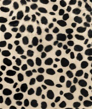 Taupe Dalmatian Velboa Faux Fur Fabric