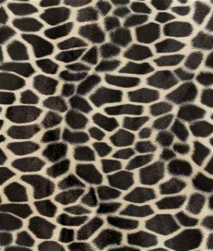 Brown Giraffe Velboa Faux Fur Fabric