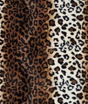 Brown Leopard Velboa Faux Fur Fabric