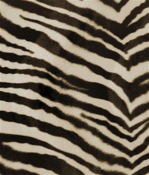 Brown Zebra Velboa Faux Fur Fabric