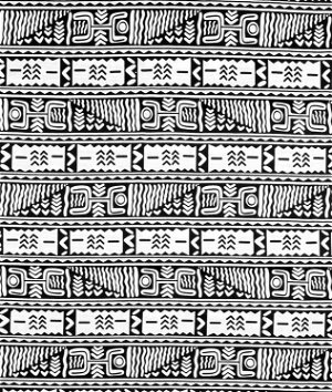 African Symbols - Black & White