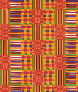African Kente Print - Golden Squares