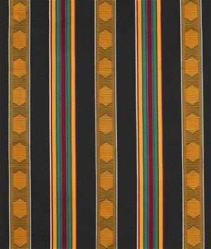 African Stripe Print - Black