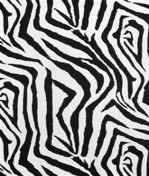 Premier prints zebra black white fabric