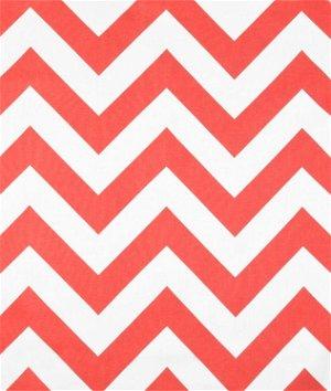 Premier Prints Zippy Coral White Fabric