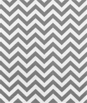 Premier Prints Zig Zag Ash/White Slub Fabric