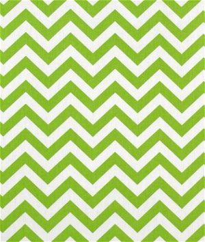 Premier Prints Zig Zag Chartreuse/White Fabric