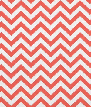 Premier Prints Zig Zag Coral/White Fabric