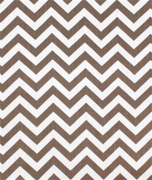 Premier Prints Zig Zag Italian Brown Drew Fabric