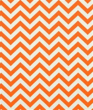 Premier Prints Zig Zag Mandarin/Natural Fabric