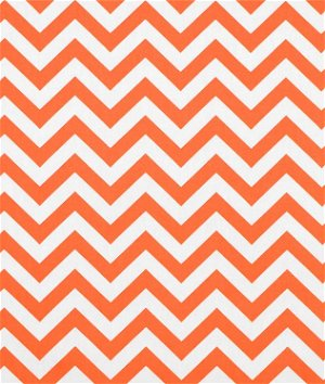 Premier Prints Zig Zag Tennessee Orange Fabric