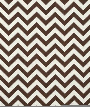 Premier Prints Zig Zag Village Brown/Natural Fabric